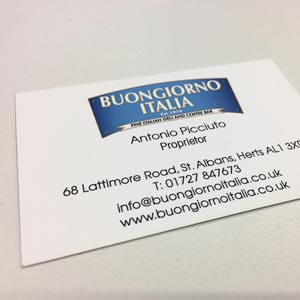 matt or gloss laminated business cards st albans